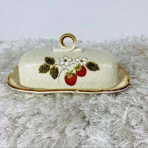 Mikasa Strawberry Fields Butter Dish & Cover